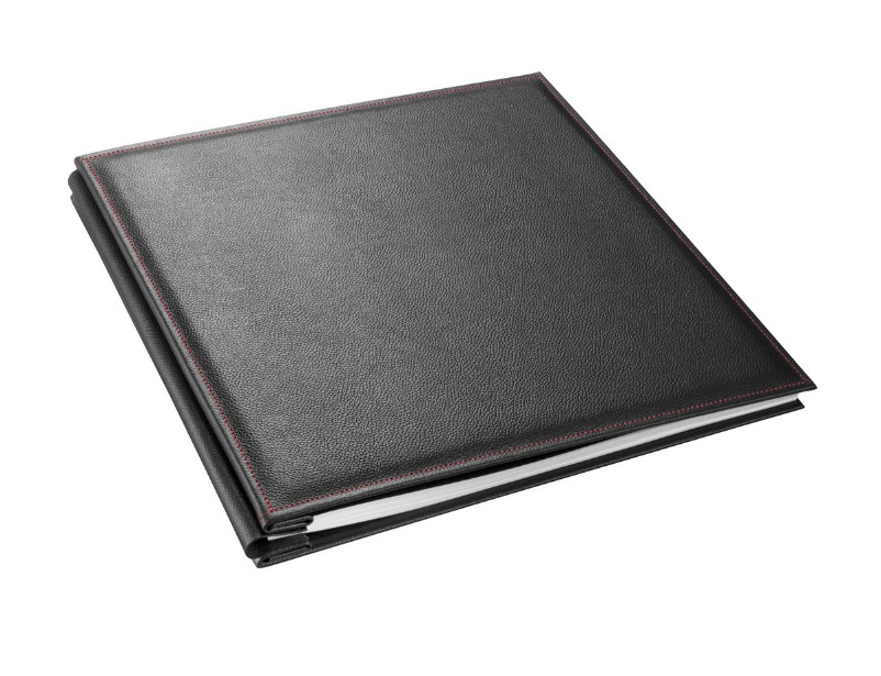 Leather Album Cover Soft Cushioned with Red Stitch