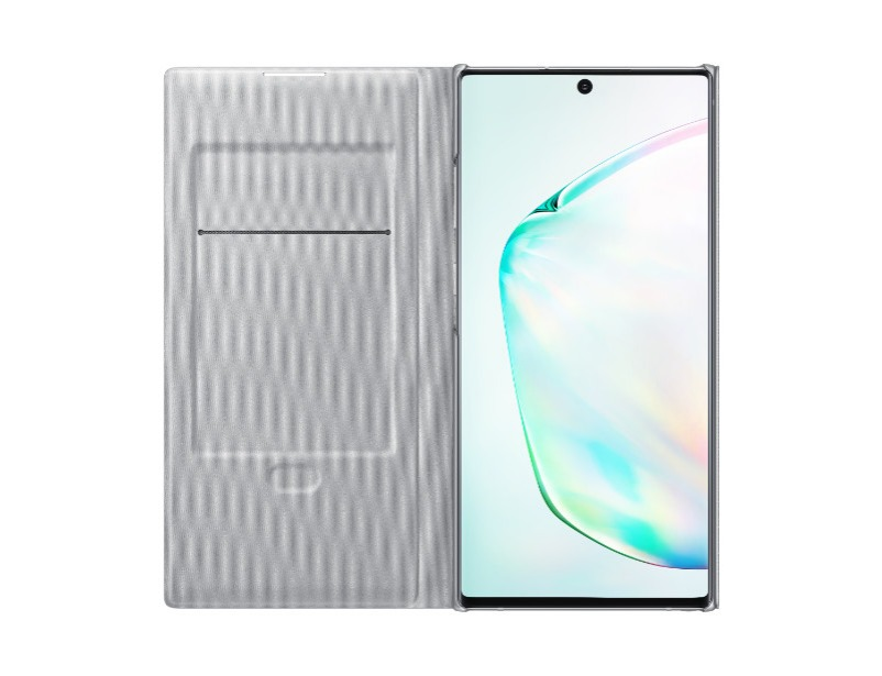 Note 10+ LED View Cover - Silver