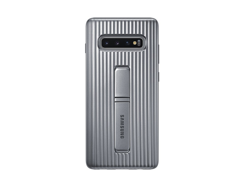 S10 PLUS Protective Standing cover - Silver