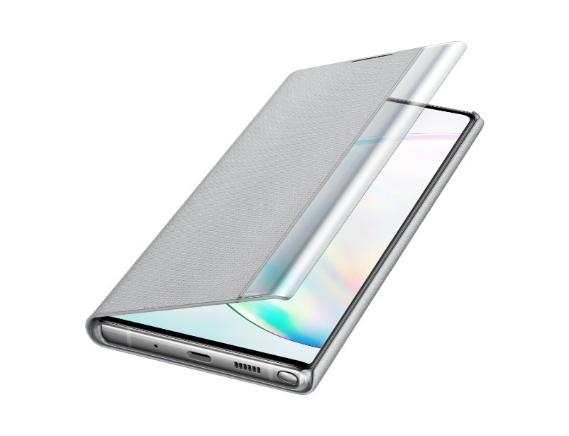 Note 10+ Clear view cover -Silver