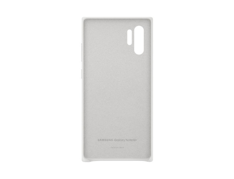 Note 10+ Leather Cover - White