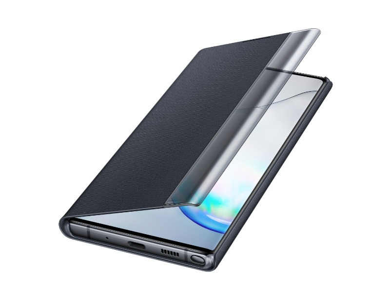 Note 10+ Clear view cover - Black