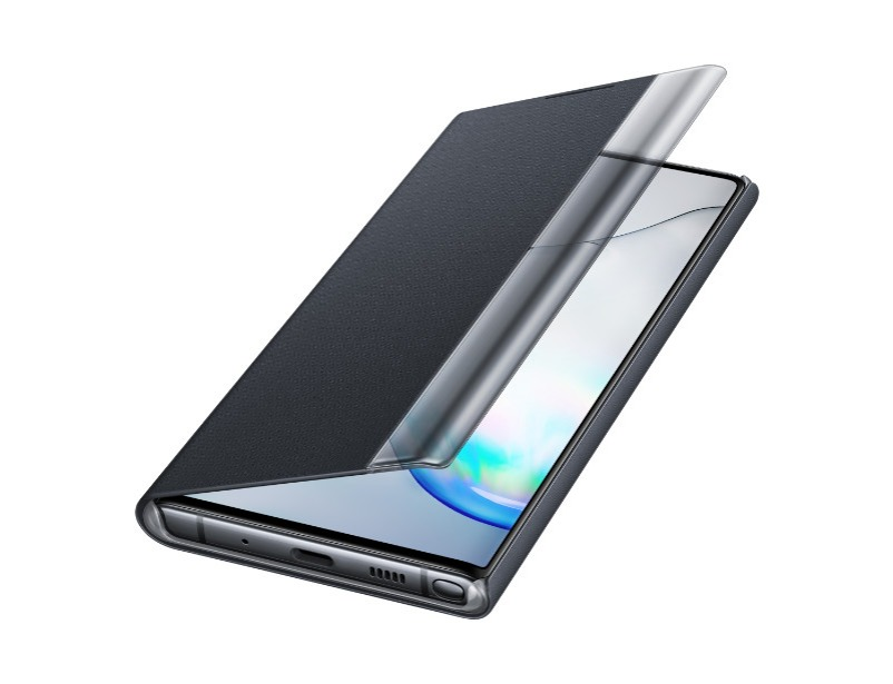 Note 10 Clear view cover - Black