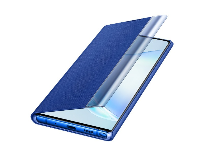 Note 10+ Clear view cover - Blue