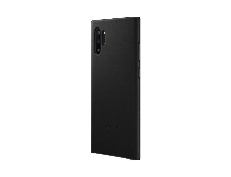 Note 10+ Leather Cover - Black