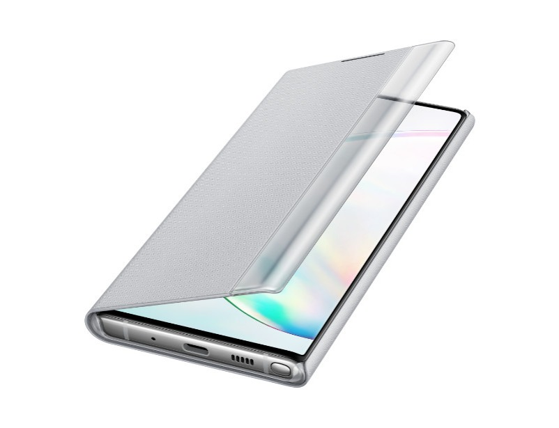 Note 10 Clear view cover - Silver