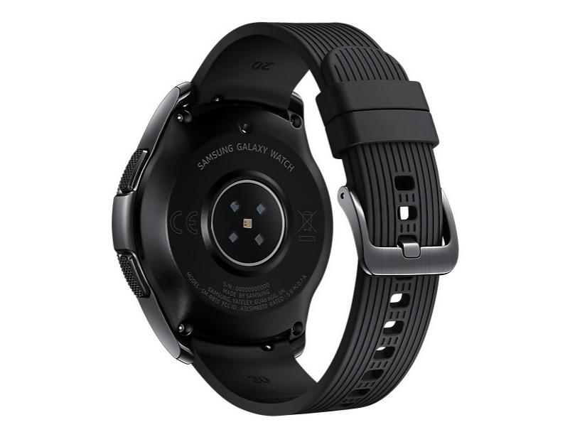 Samsung Galaxy Watch 42mm Black + Gear Icon X Bundle