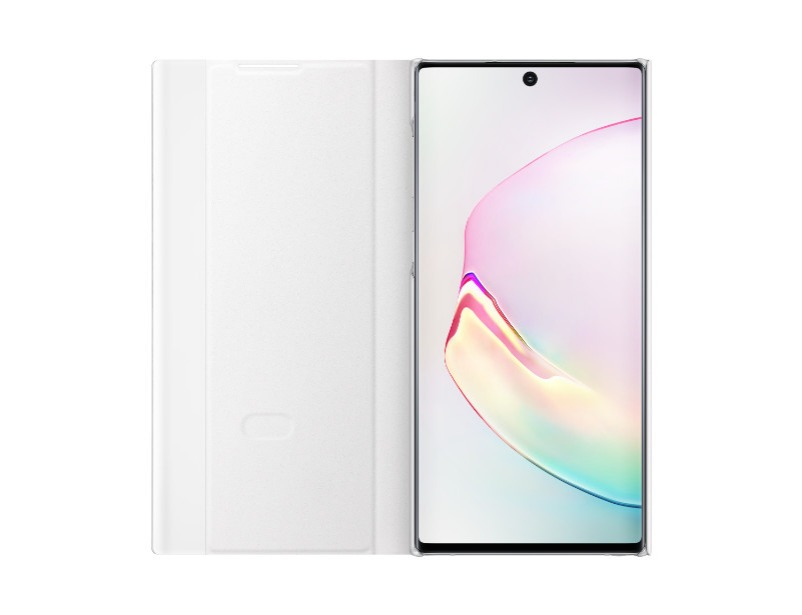 Note 10 Clear view cover - White