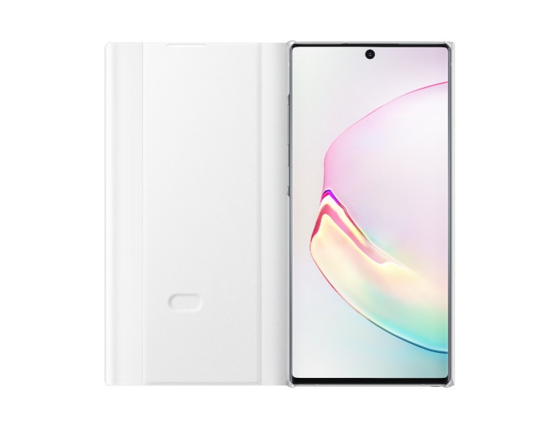 Note 10+ Clear view cover - White