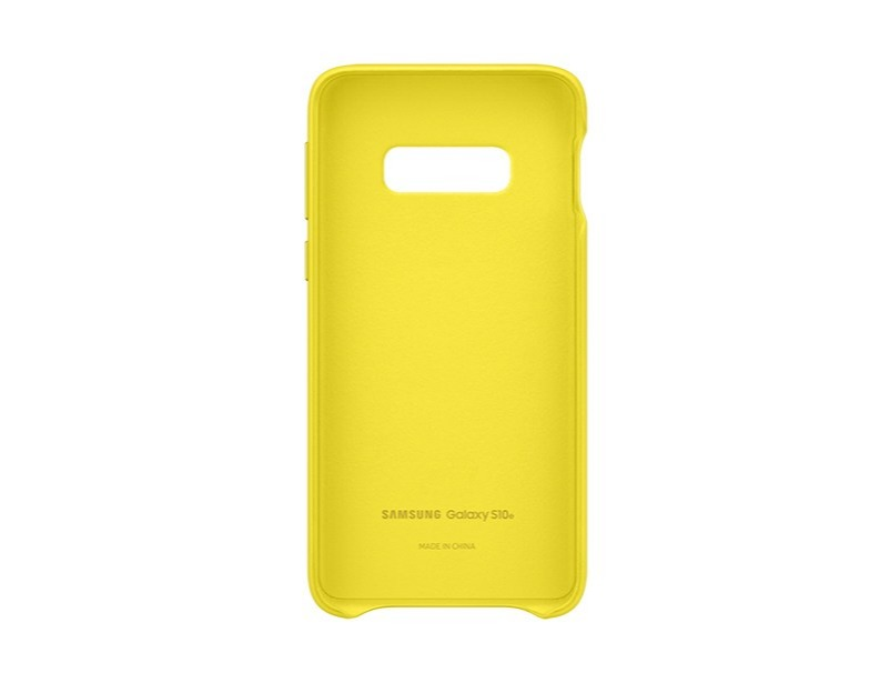 S10 E Leather cover - Yellow