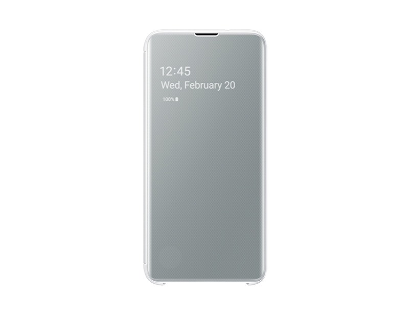 S10 E Clear view cover - White