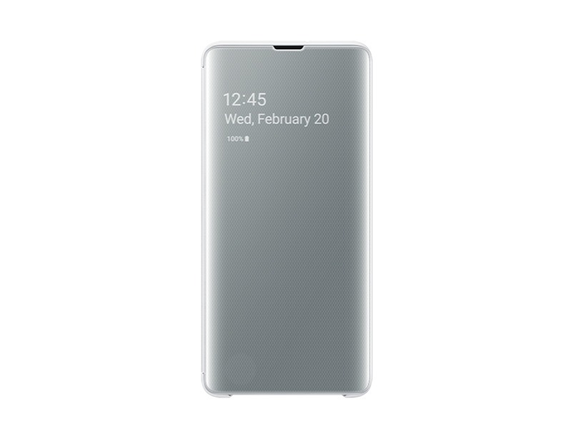 S10 PLUS Clear view cover - White