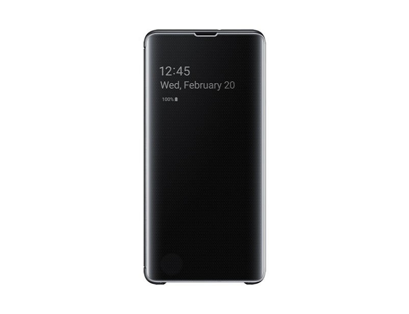 S10 PLUS Clear view cover - Black